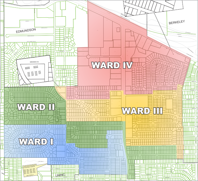 Ward Map, Click to Zoom